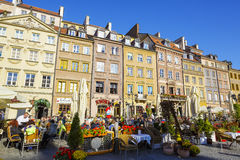 Warsaw, townhouses in the Old Town square Royalty Free Stock Photography