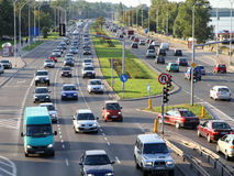 Warsaw traffic congestion Stock Image