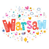 Warsaw typography lettering design Royalty Free Stock Photo