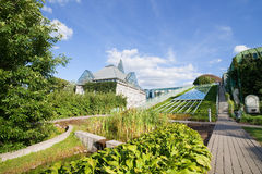 Warsaw University Library Garden Royalty Free Stock Images