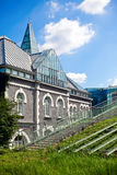 Warsaw University Library, Poland. Modern architecture of Warsaw University Library, Poland stock photo