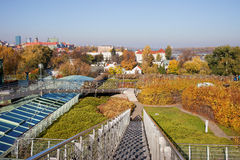 Warsaw University Library Roof Garden royalty free stock image