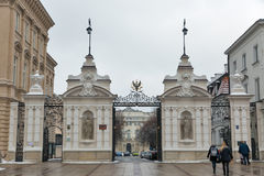 Warsaw University main gate, Poland. stock image
