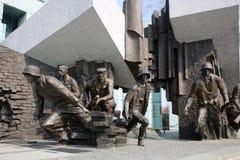 Warsaw Uprising Monument. Is dedicated to the Warsaw Uprising of 1944 and is located at the southern Side of Krasinski Square. Poland Royalty Free Stock Photo