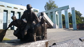 Warsaw Uprising Monument. Is a monument in Warsaw, Poland, dedicated to the Warsaw Uprising of 1944 Royalty Free Stock Images