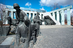 Warsaw Uprising Monument Warsaw. Monument commemorating the August 1944 Warsaw Uprising.  A unique memorial to the pivotal battle in WWII Royalty Free Stock Image