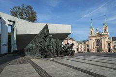 Warsaw Uprising Monument in Warsaw, Poland. Warsaw Uprising Monument in Warsaw. Uprising was a major World War II operation by the Polish resistance Home Army to Royalty Free Stock Image