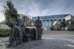 Warsaw Uprising Monument in Warsaw, Poland Royalty Free Stock Photos