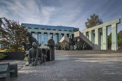 Warsaw Uprising Monument in Warsaw, Poland Royalty Free Stock Image