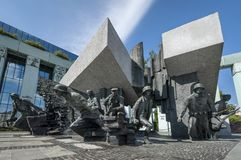 Warsaw Uprising Monument in Warsaw, Poland. During summer time Royalty Free Stock Image