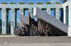 Warsaw Uprising Monument, Warsaw (Poland) Royalty Free Stock Photos