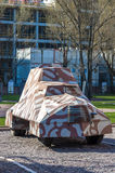 Warsaw Uprising Museum. Copy of the armoured fighting vehicle KUBUS, manufactured by the insurgents during the Warsaw Uprising - Warsaw, Poland Royalty Free Stock Image