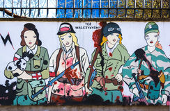 Warsaw Uprising Museum. Mural dedicated to the Uprising heroes - Warsaw, Poland Stock Photos