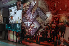Warsaw Uprising Museum. One of the exhibition halls - Warsaw, Poland stock photos