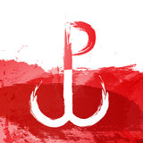 The Warsaw Uprising on white red backgrounds object abstract Stock Photography