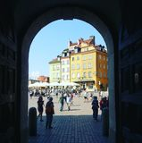 Warsaw view. View of the Warsaw in the ark of famous palace royalty free stock photos