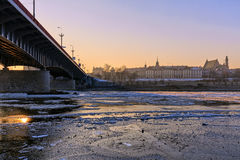 Warsaw, the view of the river Stock Images