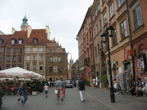 Warsaw. Walk around Warsaw summer day stock photo