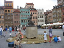 Warsaw. Walk around Warsaw summer day royalty free stock photography