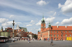 Warsaw (Warszawa) - Poland. Main square with Royal Castle in Warsaw (Warszawa), Poland. Totally rebuilt after the 2nd World War Stock Images
