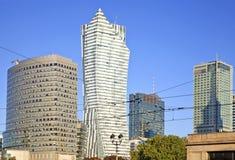 Warsaw (Warszawa) city modern downtown, Poland. Stock Photography