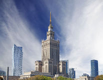 Warsaw (Warszawa) city modern downtown, Poland. Royalty Free Stock Photography