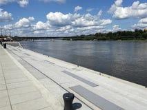 View at the Vistula River near Vistulan Boulevards. stock images