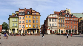 Warsawa. Det gamla centret Royaltyfri Fotografi