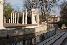 Warsawa Lazienki皇家公园 水的剧院 库存图片
