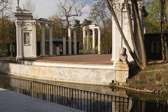Warsawa Lazienki皇家公园 水的剧院 图库摄影