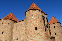 Warsawa old town castle, Warsaw Barbican stock images