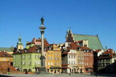 Warsawa old town, central square of Warsaw royalty free stock image