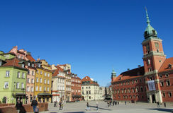 Warsawa old town, central square of Warsaw stock image