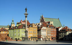 Warsawa old town colorful houses stock image