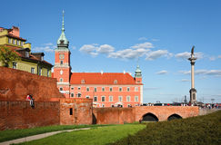 Warsaws - Royal Castle and Sigismund's Column Royalty Free Stock Images