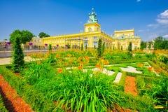 Warsaws Wilanow pałac Zdjęcie Royalty Free