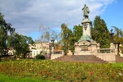 Warschau - Adam Mickiewicz Lizenzfreie Stockfotografie
