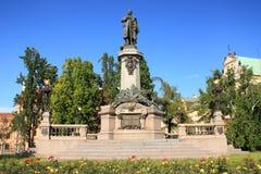 Warschau, Adam Mickiewicz Monument Lizenzfreie Stockbilder