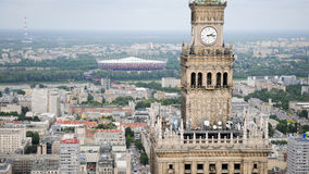 Warschau-Ansicht, Polen Lizenzfreie Stockfotos