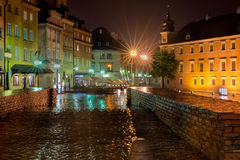 Warschau bis zum Night Lizenzfreies Stockfoto