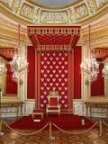 Warschau, das königliche Schloss. Der königliche hauptsächlichThron Stockfotografie