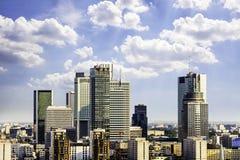 Warschau-Geschäftsgebiet Lizenzfreies Stockfoto
