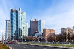 Warschau im Stadtzentrum gelegen Lizenzfreie Stockfotos