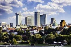 Warschau im Stadtzentrum gelegen am Nachmittag Stockbild
