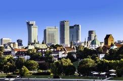Warschau im Stadtzentrum gelegen am Nachmittag Stockbilder