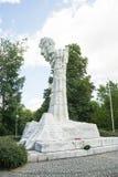 WARSCHAU - 6. Juni 2017 - das Monument zum Kampf von Monte Cassino legte in Warschau lizenzfreies stockbild