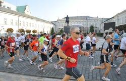 Warschau-Marathon Lizenzfreie Stockbilder
