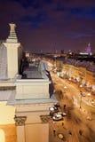 Warschau nachts lizenzfreie stockfotografie