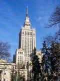 Warschau - Palast der Kultur und der Wissenschaft Lizenzfreie Stockbilder