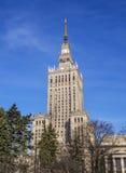 Warschau - Palast der Kultur und der Wissenschaft Stockbilder